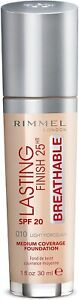 RIMMEL Foundation Lasting Finish Breathable Various Shades  SEALED