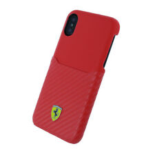 Carcasa iPhone X licencia Ferrari carbono rojo