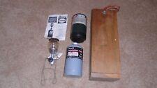 Century Primus Mighty-Lite Model 5400 Propane Lantern w/  Wood Carry Case