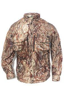Cabela's Men's Waterfowl Mossy Oak DUCK BLIND Silent Pro Hunting Guide LS Shirt