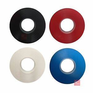 Racket Grip Neck Finishing Tape - 20m Roll (Black, Blue, Red or White Available)