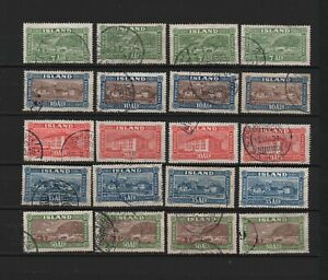 Iceland SG151 TO SG155 USED X 4