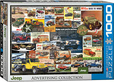 Eurographics Jigsaw Puzzle Jeep Advertising Collection 1000 Pieces