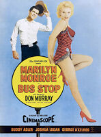 MARILYN MONROE BUS STOP Movie Poster- HUGE CANVAS PRINT A1
