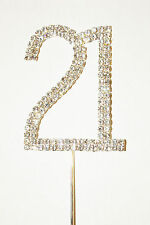 Number 21, Large Diamante Cake Topper. Stunning for Celebration Cakes