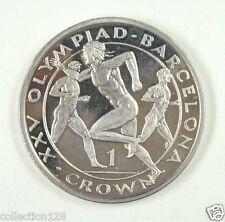 New listing Gibraltar Coin One Crown, 1991, Au-Unc, Barcelona Olympics, Runners