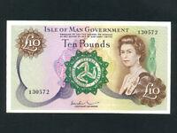 Isle of Man:P-31b,10 Pounds,1972 * Sign 3 * Queen Elizabeth II * EF *