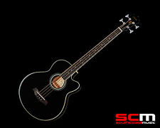 IBANEZ AEB-8E BLACK ACOUSTIC ELECTRIC BASS GUITAR PRO-SCM SETUP BRAND NEW