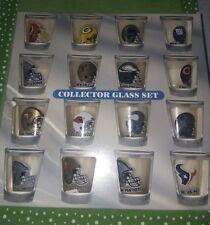 NFC, SHOT GLASS SET , VINTAGE, NFL, SET OF 16,