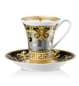 VERSACE BY ROSENTHAL PRESTIGE GALA COFFEE CUP & SAUCER #403637-14740 BRAND NIB