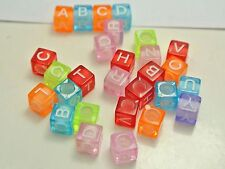 250 Color Transparent white inside Acrylic Alphabet Letter Cube Pony Beads 5.5mm