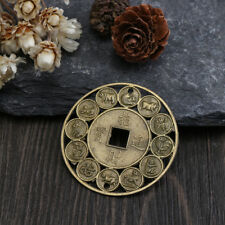 Lucky Chinese Zodiac Feng Shui Coin For Good Luck Amulet Prosperous Protection