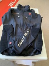 Castelli Rosso Corsa Winter Jacket Black In Size M