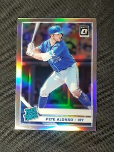 Pete Alonso 2019 Panini Donruss Optic Rated Rookie Holo Silver Prizm Rc #82 Mets