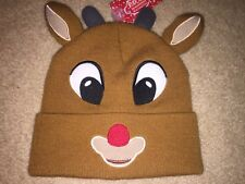 420e2714cbab5 RUDOLPH The RED-NOSED Reindeer movie Bumble New WOMEN S Ladies BEANIE HAT  Cap