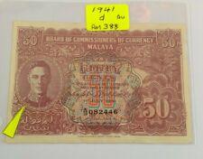Malaya 1941 50 Cents