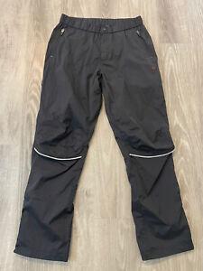 PEARL IZUMI Men's Cycling Pants Large Mesh Lined Knee Vents Zip Leg Black