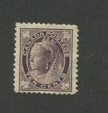 1898 Canada 10 Cent Brown Violet Stamp Scott #73 Queen Victoria CV $600