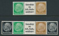 Stamp Germany Mi W74 1939 3rd Reich Wohlfahrt Se-Tenant MNH Pair
