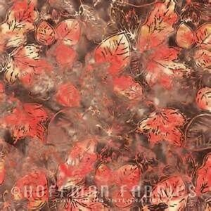 "Batik Leaves ""Gravel""-Hoffman Fabrics-Fat Quarter"