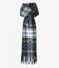 Polo Ralph Lauren Men`s Bear Embroidered Tartan Wool Scarf One Size PC0397-107