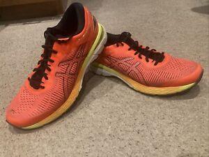 MENS ASICS GEL-KAYANO 25 RUNNING TRAINERS SIZE 10.5 UK Orange