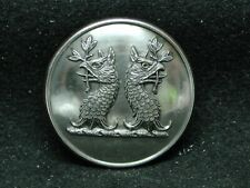 Twin Griffin Heads ~ Lane Family, Sussex Uk 26mm S/P Livery Button Firmin 20th C