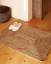 Jute Rug Rectangle 2x4 Feet Runner Rug Braided style Reversible Floor Mat Carpet