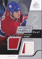 08-09 SP Game Used Michael Ryder Jersey Fabrics 2 Color Canadiens 2008