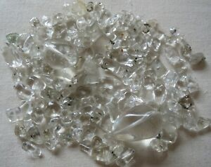 150 x CLEAR QUARTZ GEMSTONE BEADS & CHIPS SELECTION MIX CRAFTS JEWELLERY MAKING