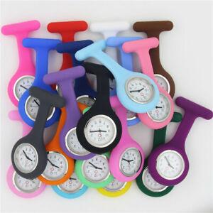 Nurse Washable Pocket Watch Brooches Silicone Quartz Nurse Watches Tunic Fob