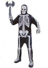Deluxe Moulded Bones Skeleton Halloween Fancy Dress Costume XL P6997