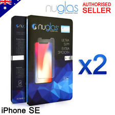2x GENUINE NUGLAS 9H Tempered Glass Screen Protector For Apple iPhone SE 2016