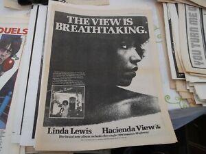 LINDA LEWIS, HACIENDA VIEW ALBUM RELEASE POSTER 1979 FRAMING