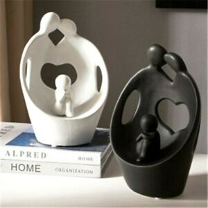 Minimalist Abstract Family Statue Figurine Tabletop Home Office Decoration Craft