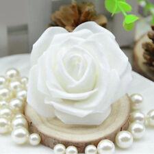 50pcs Artificial Rose Flower Head Wedding Garden Floral Party Decor White
