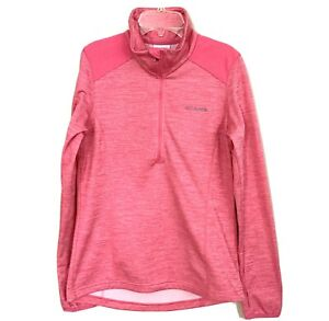 Columbia Shirt Size Small Womens 1/2 Zip Pullover L/S Jacket Pink Fitness Hiking