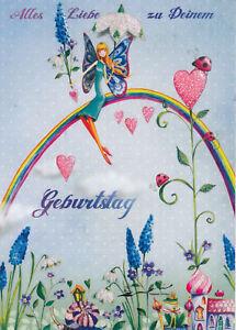Postkarte: Mila Marquis - Alles Liebe zu Deinem Geburtstag / Elfe