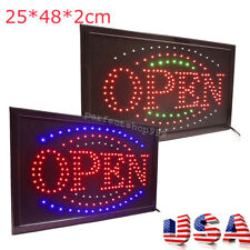 3 Color Animated Led Neon Light Flash Motion Business Open Sign Switch Bar Shop