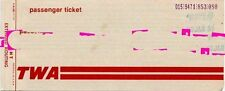 Squeeze Jools Holland TWA Airline Ticket 8/1/81