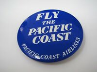 Vintage Pin Button: Pacific Coast Airlines Fly the Pacific Coast