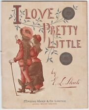RARE Children's Book ca 1890 I Love Pretty Little Sixpence by Shute  Marcus Ward