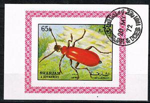 Sharjah Fauna Insects Firebug Souvenir Sheet 1972