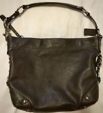 Coach F15251 Carly Brown Leather Hand Bag / Purse