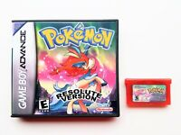 Pokemon Resolute Game / Case Nintendo Game Boy (GBA) -  Fan Made (USA Seller)