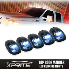 5pcs Smoked LED Roof Top Truck SUV Cab Marker Running Clearance Light Set WHITE