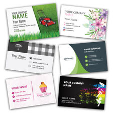 More details for business cards printed full colour, free design templates or upload your own.