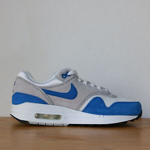 Nike Wmns Air Max 1 One GS 5us - 37.5eu White Blue Blanche Bleue Sneakers DS
