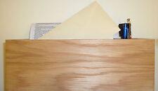 Oak veneer desk organiser and pen holder