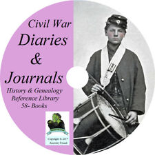 Civil War DIARIES & JOURNALS - History & Genealogy - 58 Diary Books on DVD CD